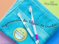Como fazer a higiene da sua escova de dentes.